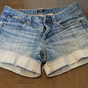 J. CREW FACTORY distressed jean shorts